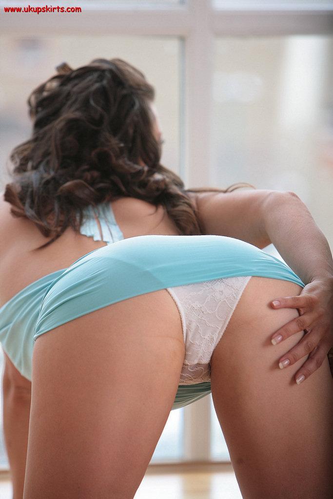 Panties girl wet over bends in