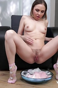 Delightful Foot Fetish With A Kinky Pornstar Pleasuring Her Clam While A Boy Jams Her Feet Into His Lips