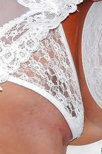Amazing Housewife Pulls On Her White Underwear To Get A Little Horny